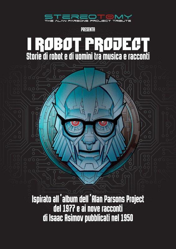 LOCANDINA dello spettacolo dedicato ad Asimov, a cura della STEREOTOMY - The Alan Parsons Project Tribute Band