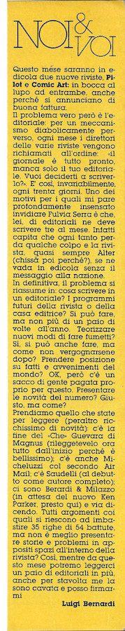 Noi e Voi, l'editoriale di Luig Bernardi, estratto dal n., 21 di Orient Express