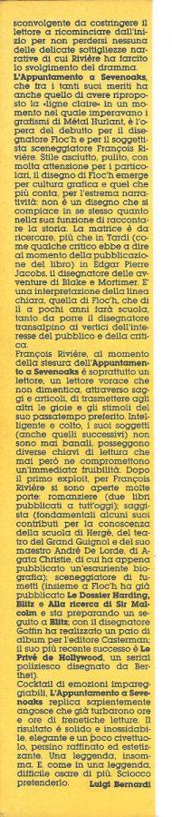 Articolo di L.Bernardi sul debutto in Italia di  Floc'h &Riviere,  estratto dal n. 22 di Orient Express. ... e seconda colonna.