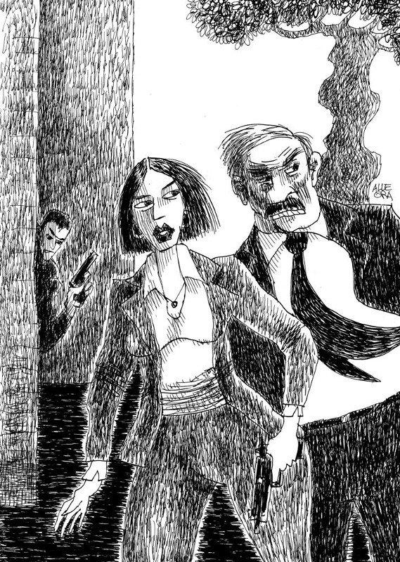 Petra Delicado, commissario di una Barcellona contemporanea, è la fortunata eroina letteraria di Alicia Gimenez-Bartlett. illustrazione di Gianni Allegra