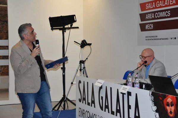 Un momento del talk show presentato da Alessandro Di Nocera con la presentazione dei premiati