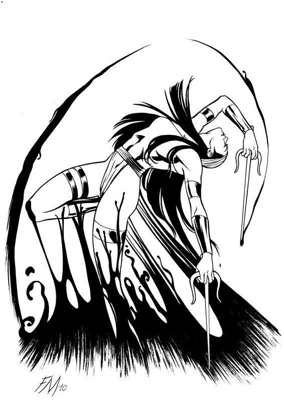 ektra che si libera da un blob! (O da Venom?!?;P