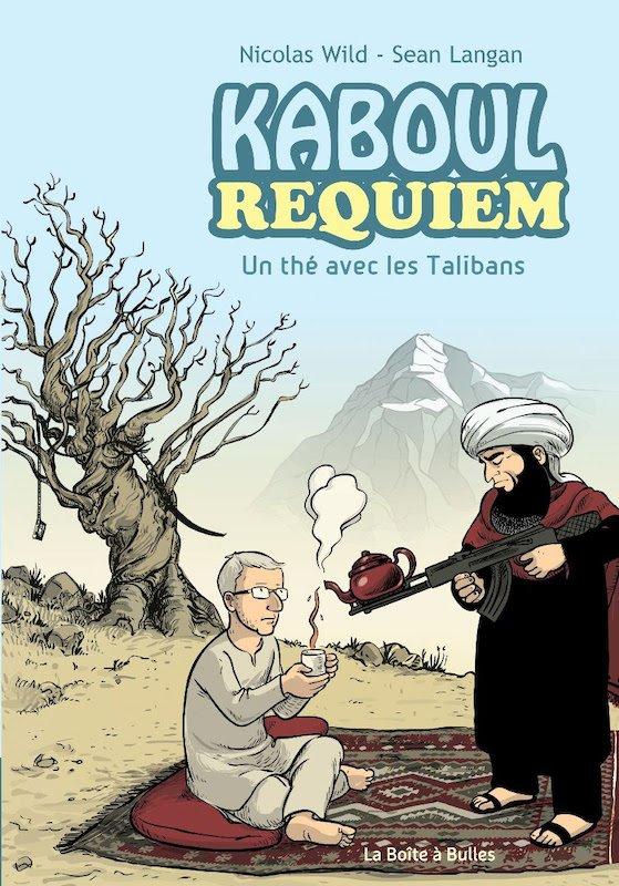 Copertina del volume Kaboul Requiem scritto da Nicolas Wild (presente al festival) e disegnatp da Sean Langan.