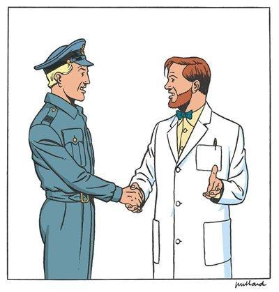 Il personaggio Angus Mortimire è un omaggio al famoso personaggio del fumetto belga Philip Mortimer dalla serie Blake e Mortimer di Edward P Jacobs.