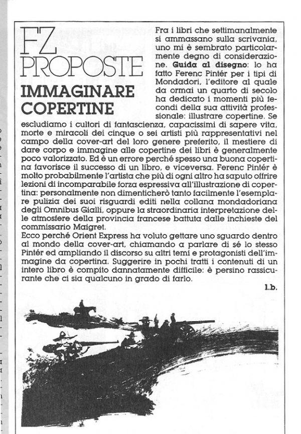 FZ proposte con una breve introduzione di luigi Bernardi, estratta dal n. 23 della rivista Orient Express