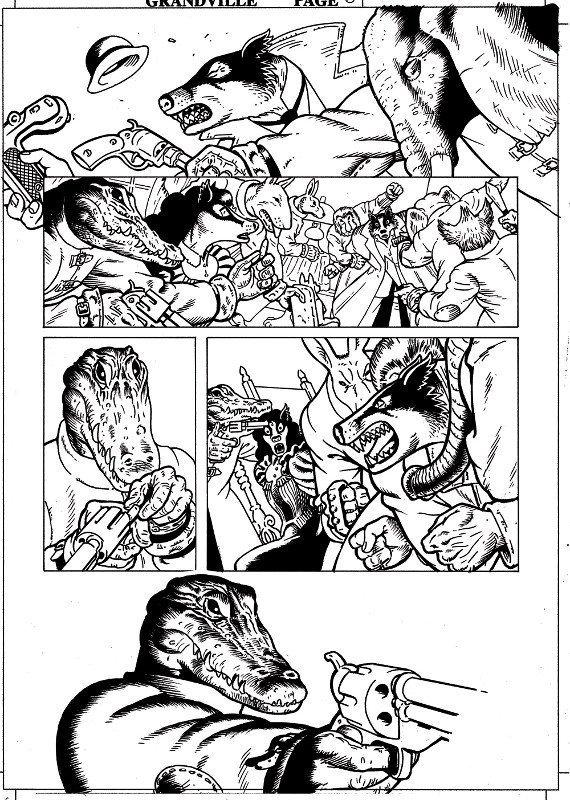 Chine della pagina 69 di Grandville:  Bête Noire