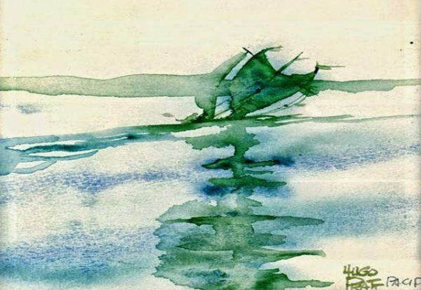immagine disegnata da Hugo Pratt