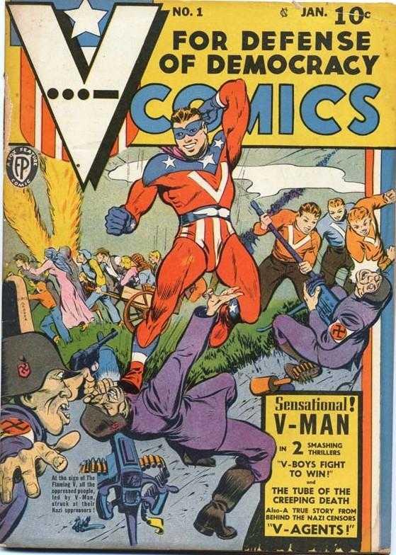 Copertina dell'albo n. 1 di V Comics dove appare per la prima volta V-Agent 13. Per gentile concessione
