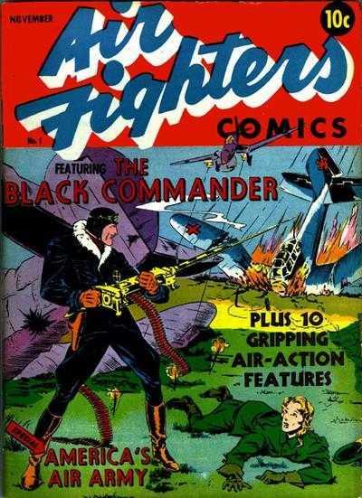 Copertina dell'albo n. 1 di Air Fighters Comics dove appare per la prima volta Jack dale, Flying Cadet. Per gentile concessione