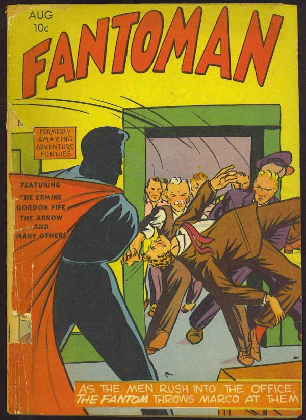 Copertina dell'albo n. 2 di Fantoman dove appare per la prima volta Gabby Flynn . Per gentile concessione