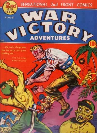 Copertina dell'albo n. 2 di War Victory Adventures dove appare per la prima volta the Cadet. Per gentile concessione