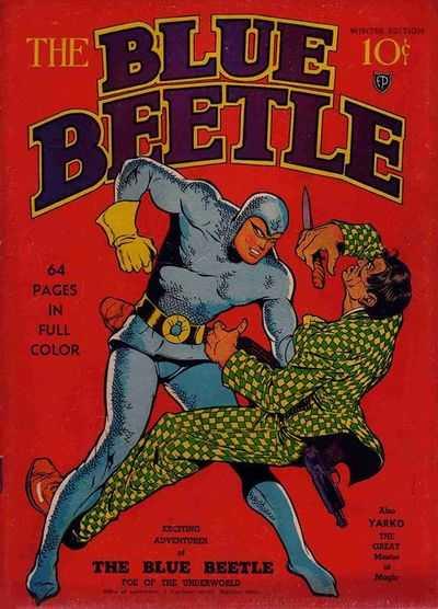 Copertina dell'albo n. 1 di The Blue Beetle dove appare per la prima volta Halo . Per gentile concessione
