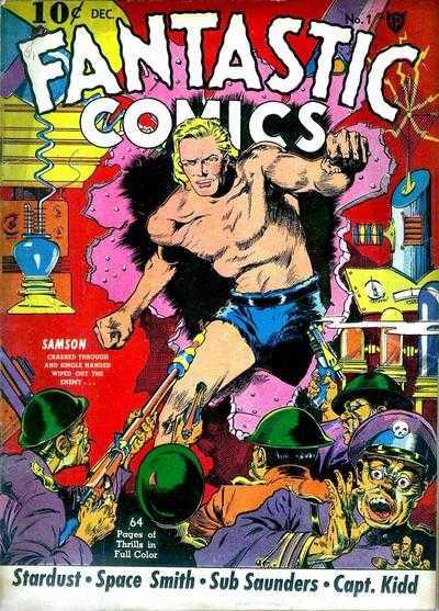 Copertina dell'albo n. 1 di Fantastic Comics dove appare per la prima volta Samson. Per gentile concessione