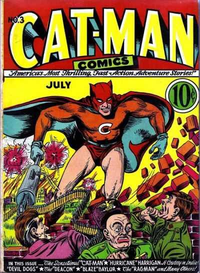 Copertina dell'albo n. 3 di Cat-Man Comics dove appare per la prima volta Najar. Per gentile concessione