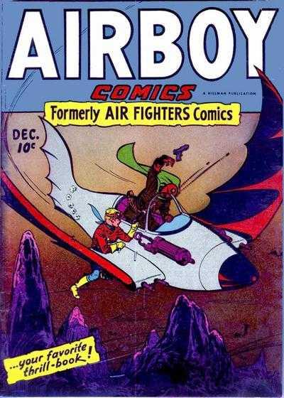 Copertina dell'albo n. 11 di Airboy Comics dove appare per la prima volta Mach Duff. Per gentile concessione