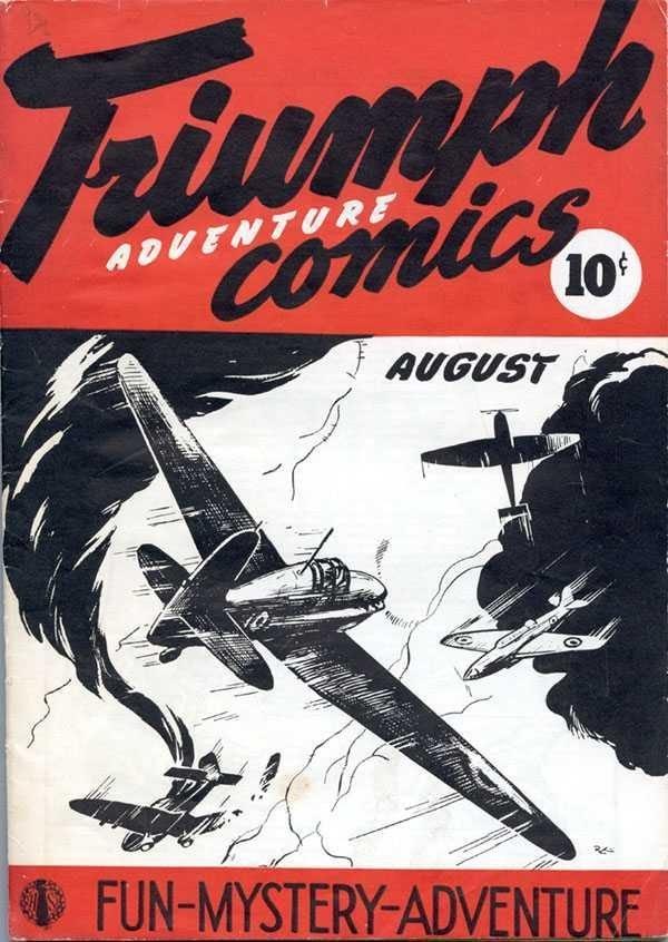 Copertina dell'albo n. 1 di Triumph Adventures Comics dove appare per la prima volta Tang, the wonder horse. Per gentile concessione