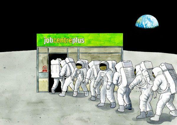 Moon Landing Job Centre by Festival guest Darren Cullen