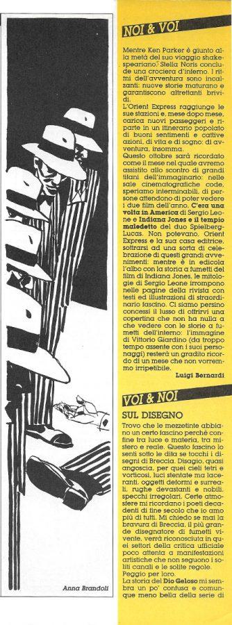 L'editoriale (Noi&voi), scritto da Luigi Bernardi, estratto dal n. 25 della rivista Orient Express