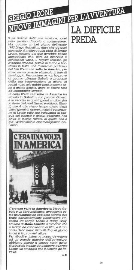 Introduzione di L. Bernardi dallo speciale dedicato a Sergio Leone, estratto dal n. 25 della rivista Orient Express