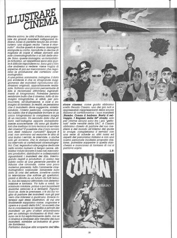 Speciale ILLUSTRARE CINEMA,  con l'introduzione scritta da L. Bernardi, estratta dal n. 26 della rivista Orient Express