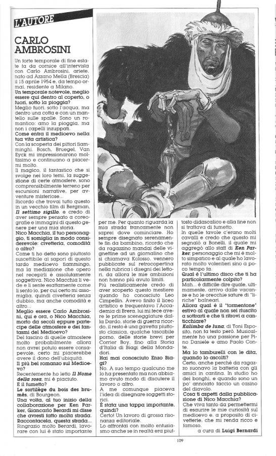 Intervista a Carlo Ambrosini, estratta dal n. 26 della rivista Orient Express