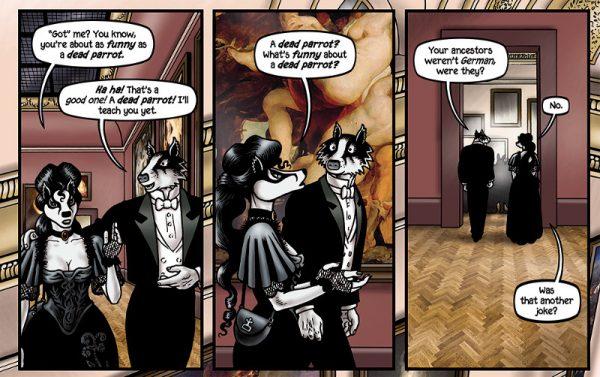 Ho pensato i tempi del fumetto funzionassero molto bene qui, in particolare nell'ultima vignetta, dove si trova una pausa notevole a causa del posizionamento del terzo balloon.