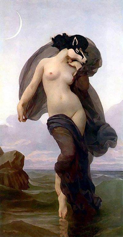 Evening Mood di William-Adolphe Bouguereau (1825 – 1905)