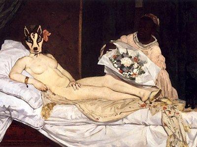 La famosa Olimpia di Édouard Manet (1832 – 1883). Molto adatto a Billie rappresentando una prostituta,  e fu estremamente scioccante per il pubblico ai suoi tempi.