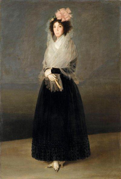 Il dipinto qui sullo sfondo e nella vignetta 7 è  tratto da La Contessa del Carpio, Marchesa de la Solana di Francisco Goya (1746 – 1828), che è appeso anch'esso nel Louvre.