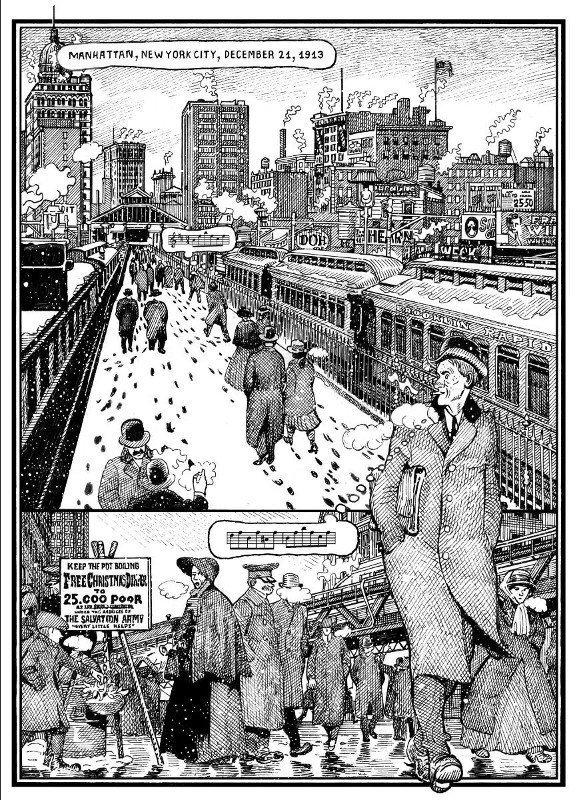 Tavola a fumetti  tratta da FUN ??? di Paolo Bacilieri