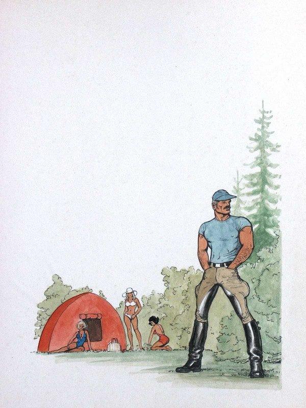 altra immagine tratta dalla mostra' Andiamo in campeggio con Tom of Finland' (LICAF 2019)