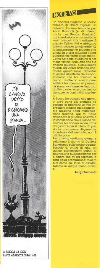 L'editoriale (Noi&voi), scritto da Luigi Bernardi, estratto dal n. 27 della rivista Orient Express