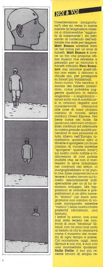 PRIMA COLONNA dell''editoriale (Noi&voi), scritto da Luigi Bernardi, estratto dal n. 29 della rivista Orient Express