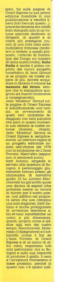 SECONDA COLONNA dell''editoriale (Noi&voi), scritto da Luigi Bernardi, estratto dal n. 29 della rivista Orient Express