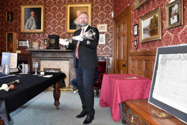 Visita al Mayor's Parlour (l'ufficio del Sindaco) della città di Kendal