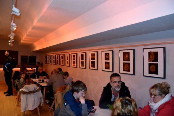 foto 1  dell'esposizione presso il bar del BAC, dal titolo !BELOW THE GROUND BENEATH OUR FEET - EDWARD TAYLOR EXHIBITION!