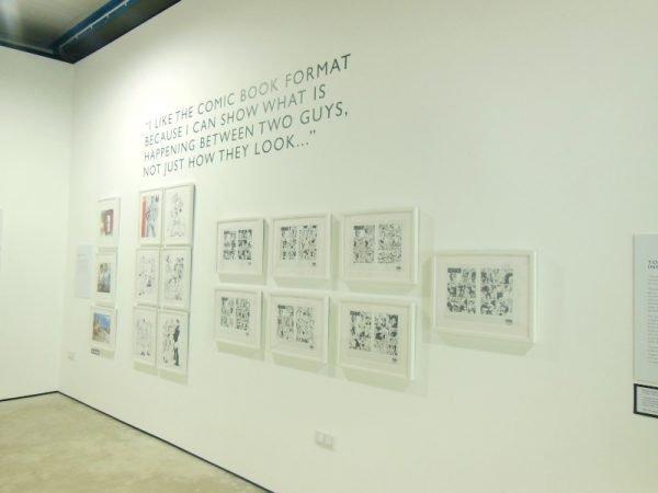 foto 2 - Seconda Panoramica della mostra della mostra dedicata a Tom of Finland nella bella sala della Cross Lane Project (un'altra location leggermente decentrata, vicino la  Abbot Hall Art Gallery).