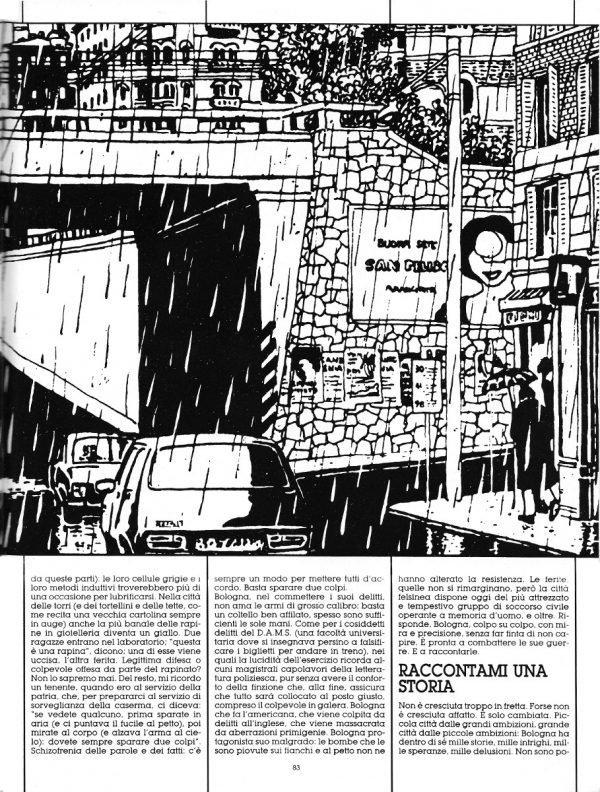 Seconda pagina dello Speciale sulla città di Bologna, scritto da Luigi Bernardi, estratto dal n. 29 della rivista Orient Express