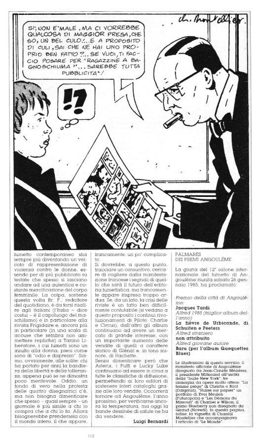 Terza parte del reportage di Angouleme 1985, sempre a cura di L. Bernardi,  estratto dall'ultimo numero di Orient Express
