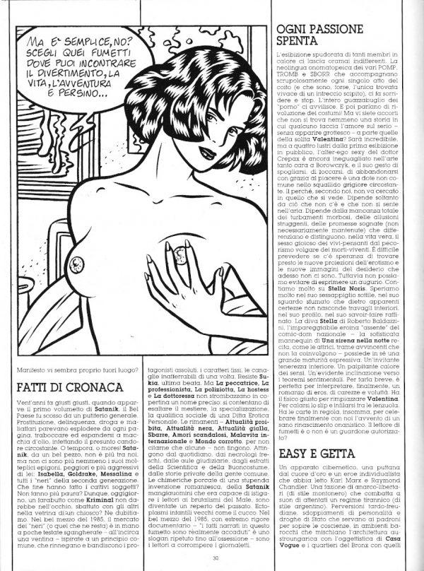 """Seconda parte dello speciale """" FORTI CON SAPORE"""", che fu una sorta di manifesto  del racconto a fumetti """"dopo Orient Express"""" con i disegni di Roberto Baldazzini. Estratto dal n. 30 di O.E."""