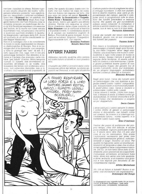 """Quarta parte dello speciale """" FORTI CON SAPORE"""", che fu una sorta di manifesto  del racconto a fumetti """"dopo Orient Express"""" con i disegni di Roberto Baldazzini. Estratto dal n. 30 di O.E."""