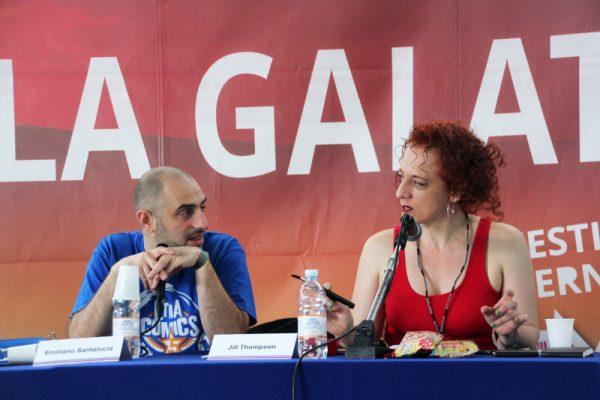 Jill mentre risponde ad una domanda di Emiliano.  Foto: ©Ambra Cirafisi - tutti i diritti riservati