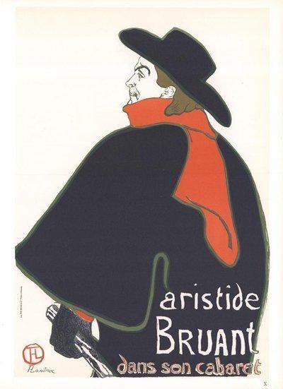 Il formichiere con la sciarpa rossa si riferisce ad Artides Bruant (1851 – 1925), proprietario di cabaret e artista, il quale comprò il Lapin Agile per salvarlo dalla demolizione nei primi anni del ventesimo secolo. Lo potete vedere qui in qualche poster di Henri de Toulouse-Lautrec. immagine 10 di 23