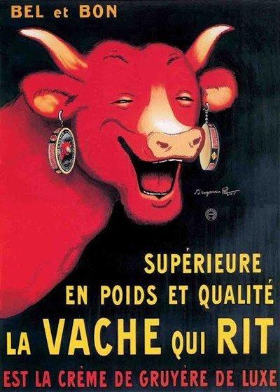 Nel 1925, l'illustratore e disegnatore di fumetti Benjamin Rabier, che creò molti libri per l'infanzia con animali antropomorfi, inventò la vacca per la quale è noto, benché ora ci sia una versione moderna più stilizzata.  immagine 8 di 23