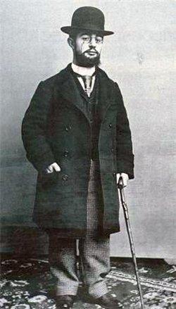 Toulouse-Lautrec (1868 – 1901) è anche lui qui parodiato dallo scimpanzé che gli siede accanto. Immagine 11 di 23