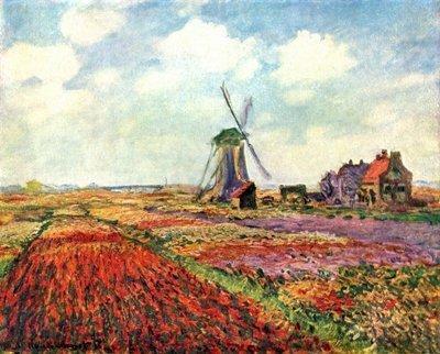 Il quadro sul muro è adattato da Campo di tulipani in Olanda di Claude Monet (1840 – 1926). Immagine 23 di 23