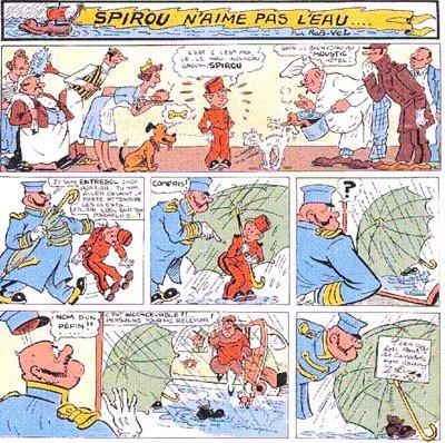 Accanto a loro c'è un personaggio ispirato al popolare Spirou, protagonista del fumetto franco-belga, che abbiamo visto per la prima volta in Grandville.