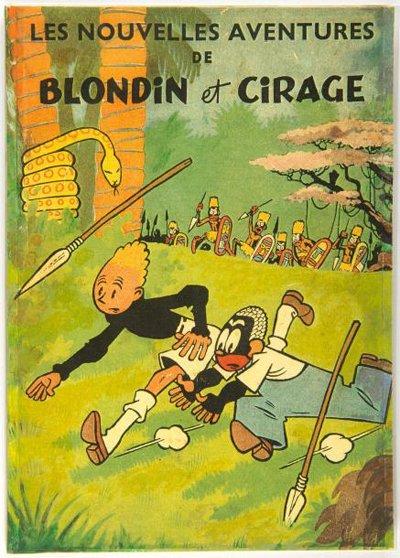 Blondin et Cirage è notevole perché presenta il primo personaggio nero titolare di testata in un fumetto belga. Benché Cirage abbia ancora una certa apparenza stereotipata, il personaggio è comunque più intelligente e compassionevole di molti neri rappresentati dai media occidentali dell'epoca