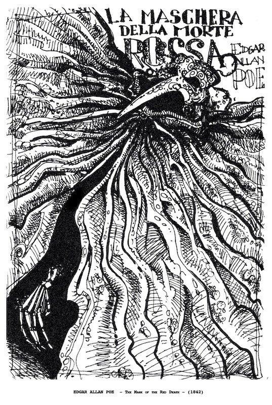 Omaggio al racconto La Maschera rossa, del disegnatore Alessandro Boni.