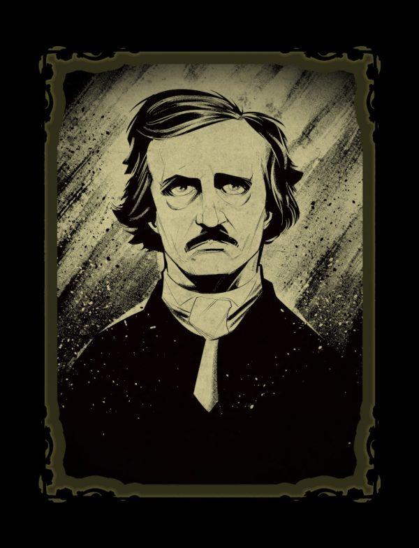 """L'illustrazione si Silvano Beltramo è stata realizzata completamente in digitale (con Clip Studio Paint), ed è stata pensata in origine come materiale promozionale per lo spettacolo degli """"Stereotomy"""" su Edgard Allan Poe e i suoi racconti, con la musica degli Alan Parsons Project."""